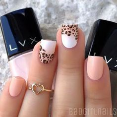 50 Leopard Nail Art Ideas-Leopard prints are a trend nowadays. From clothes to shoes to bags and even to nail art designs, they have been… Cheetah Nail Designs, Nail Art Designs 2016, Leopard Nail Art, Leopard Print Nails, Cute Nail Designs, Leopard Prints, Animal Prints, Great Nails, Love Nails