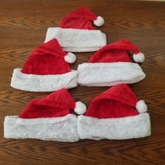 13a332a6c61 Santa Adult Youth Unisex Soft Plush Santa Claus Christmas Hat Red White LOT  OF