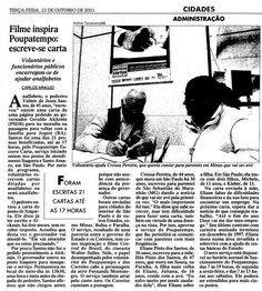 Programa 'Escreve Cartas', do Poupatempo, em 23 de outubro de 2001