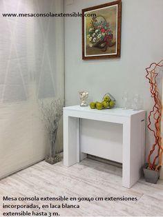 Mesa consola que se extiende desde 40 cm hasta 3,45 m en una amplia gama de colores y medidas