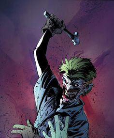 """""""The trouble with a mask is it never changes."""" – Charles Bukowski So, Scott Snyder and Greg Capullo's Batman re-introduced The Joker, who we last saw having his face removed by Dollmaker before going… Comic Del Joker, Joker Dc Comics, Arte Dc Comics, Anime Comics, Comic Book Characters, Comic Character, Comic Books Art, Comic Art, Marvel Characters"""
