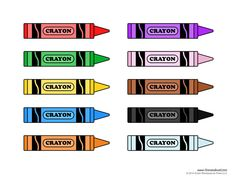 Our home creations free crayon printable preschool for Crayon labels template