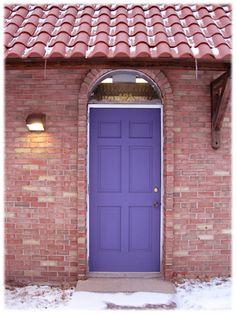 purple door brick house -