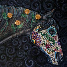 Sugar Skull Horse | Sugar Skull Painting