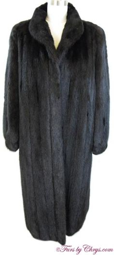 SOLD! Ranch Mink Coat RM830; Excellent Condition; Size range: 12 - 16. This is a gorgeous genuine natural ranch mink fur coat. It has a Skibells label and features small shawl collar and banded bracelet cuffs. This ranch mink coat is the stuff fur dreams are made of! Wear it and feel as beautiful as you look! Mink Fur, Mink Coats, Fur Coat, Mantel, Ranch, Shawl, Cuffs, Jackets, How To Wear