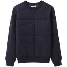 Acne Charlotte Quilted Pullover ($406) ❤ liked on Polyvore