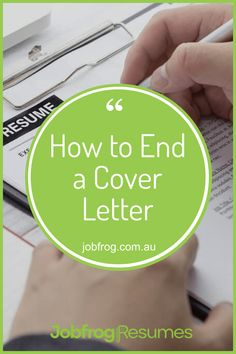Learn How to End a Cover Letter  #career  #careergoals  #job
