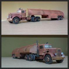 Duel - Peterbilt 281 Tanker Truck Paper Model Free Download