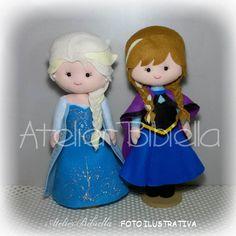 Frozen New kit c/ 2: Anna e Elsa 25cm