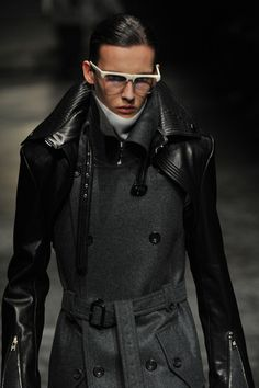 JUUN. J, AW11: such whacked-out spliced outerwear.