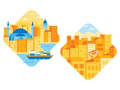 Dribbble - Cities by brian hurst