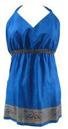 Blue Silk Summer Halterneck Top|Fashion Compassion