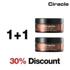 Masques anti-points noirs : [Ciracle] Pore Control Blackhead Off Sheet (1+1 / 30% Discount) - Wishtrend USD28.00