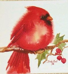 Judy Bell - Red Cardinal - Etsy - what a cutie-pie Merry Christmas 2013 C.A.