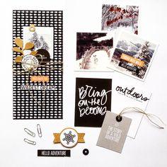 Saison d'hiver ❄️#aliedwardsdesigninc #craftthestory #aedayinthelife #aliedwards #memorykeeping #scrapbooking #blackandwhite #create #diy #paperlove #onmydesk #minibook #love #instagood #picoftheday