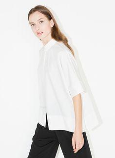 Camisa manga curta - Camisas e blusas - Ready to wear - Uterqüe Portugal