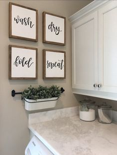 Wash Dry Fold Repeat Signs Laundry Room Sign Rustic Home Laundry Room Wall Decor, Laundry Room Remodel, Laundry Room Signs, Laundry Room Organization, Laundry Room Art, Laundry Room Decorations, Laundry Room Makeovers, Dinning Room Wall Decor, Small Laundry Rooms