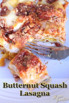 "butternut squash lasagna ""on the fly"" perfect for couples or smaller families for a quick and delicious dinner"