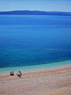 Makarska, blue adriatic sea / Croatia