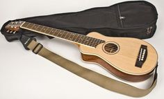 GWTR-1 Travel Guitar Completely Set-Up To Play, Includes Strap And Bag Case By Guitar Works, Inc.