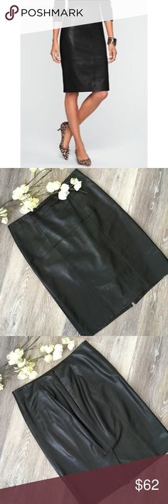 "TALBOTS LEATHER PENCIL SKIRT Beautiful 100% leather pencil skirt from Talbots. Size 6: 30"" waist, 22""!length,  6"" back slit. 100% leather and dry clean only. In wonderful condition with slight/minor creasing at hip line in front- as noted in pics. No other signs of wear. No trades and a smoke free home. Thanks for stopping by our closet! 💕🌻💕 Talbots Skirts Pencil"