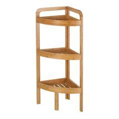 29 x Bathroom Shelf Casa Selección Free Standing Shelves, Free Standing Cabinets, Under Sink Storage Unit, Toilet Storage, Bathroom Shelf Unit, Bamboo Shelf, Glass Panel Door, Bath Design, Living Room Sets
