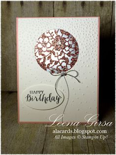 A La Cards: Bloomin' Heart Birthday