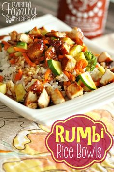 Enter our version of Rumbi Rice Bowls, with Spicy Hawaiian Teriyaki Sauce and delicious Coconut Rice. Rice Bowls, Rice Dishes, Food Dishes, Main Dishes, Restaurant Recipes, Dinner Recipes, Dinner Ideas, Dinner Options, Lunch Recipes