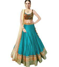Buy Sky Blue Banglori Silk Party Wear ghagra choli ghagra-choli online