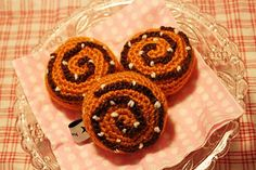 Crocheted Cinnamon Roll Bun - FREE Crochet Pattern and Tutorial