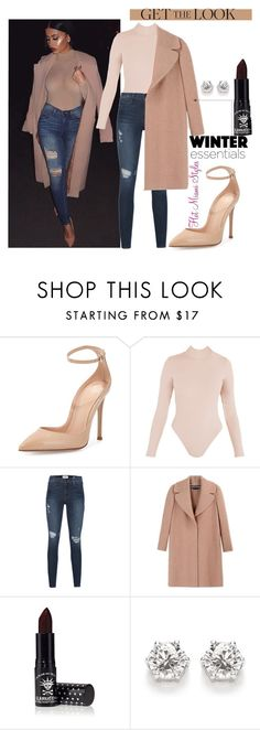 """Mesh Bodysuit x Jeans Look"" by dopegeezy ❤ liked on Polyvore featuring Gianvito Rossi, Frame Denim, Rochas and Manic Panic"