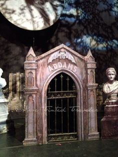 Addams Family stage - crypt