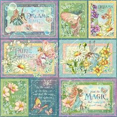 Graphic 45 /'FAIRIE WINGS/' Stickers 2 sheets Fairy Scrapbooking//Card Making