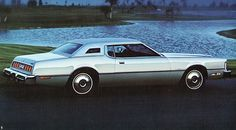 1976 Ford Thunderbird 2 Door Hardtop.. This was the first car/boat my mom had brand new. .. Forgot how long that thing was!