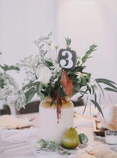 unique table number @weddingchicks