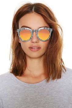 ORANGE LENSE SUNGLASSES.BOARD BY MARIA FANO - mariafano.com -50 Cheap Accessories Perfect for Summer | StyleCaster