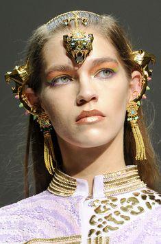 Golden Head Piece @ Manish Arora Spring 2013 Paris Fashion Week #PFW