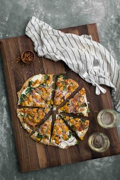 Ricotta Butternut Squash Pizza with Spinach