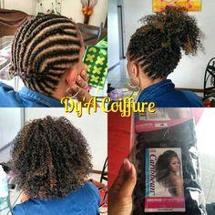 Crochet braids freetress COZY DEEP only 2 packs used! Box Braids Hairstyles, Half Braided Hairstyles, African Hairstyles, Crocheted Hairstyles, Wavy Updo, Hairdos, Hairstyle Ideas, Curly Crochet Hair Styles, Crochet Braid Styles