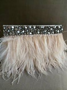 NAOMI Feather Bridal Clutch- Ivory Cream Feather Rhinestone Wedding Handbag from Camilla Christine Rhinestone Art, Rhinestone Wedding, Boho Hippie, Clip On Tassel Earrings, Bridal Handbags, Fabric Embellishment, Sleeves Designs For Dresses, Fur Accessories, Bridal Clutch