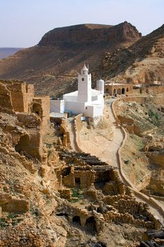 Mosque of the Seven Sleepers, Chenini, Tataouine District, Tunisia