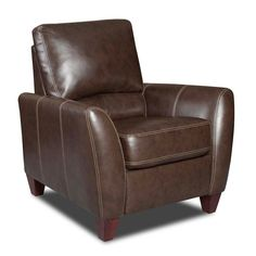 Chelsea Home Furniture Fairfax Bonded Leather Push Back Recliner - 730275-8621-48018