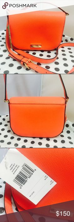 """Kate Spade $179 Carsen Geranium Crossbody Purse ❤️ Kate Spade Newbury Lane Croseta Crossbody Small Purse ➰MSRP: $178 ➰Color: Geranium➰Saffiano Leather ➰Snap Closure/Fabric lining/two open compartments ➰ 7""""L x 5.5""""H x 2.5""""D ➰Shoulder Leather strap ➰14k gold plated hardware% Authentic, like all my other items! Please check out my other designer bargains from Michael Kors, DAVID YURMAN, TIFFANY & Co, Kate Spade, Coach etc. Enjoy your shopping! kate spade Bags Crossbody Bags"""