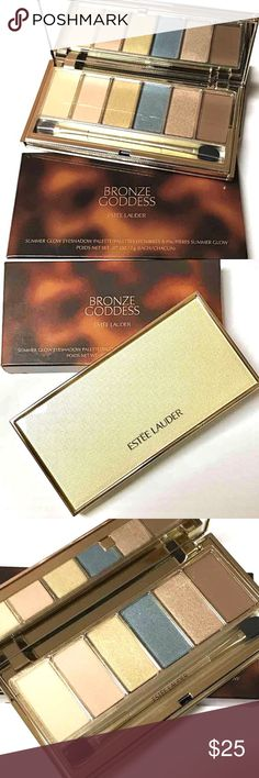 NIB - ESTĒE LAUDER Eyeshadow Palette Authentic Estēe Lauder Summer Glow Eyeshadow Palette from the Bronze Goddess Collection • Palette of 6 shades of seduction to highlight, define & dramatize your eyes • Includes dual-ended brush applicator & a generous mirror • Ophthalmologist-tested. Fragrance-free. BNIB - Never Used. Estee Lauder Makeup Eyeshadow