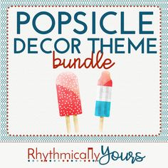 Music is sweet!! Your students will love the bright and colorful decor found in this Popsicle Decor Theme bundle! Within this purchase, you'll find: MUSIC class rules Solfa Handsigns Instrument Family Labels Printable Incentive Awards Binder...