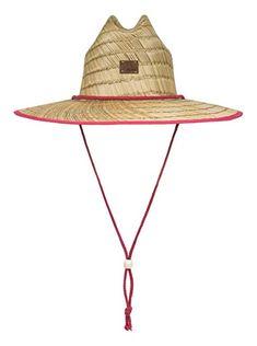 2f06d6453ac389 Roxy Womens Tomboy Straw Lifeguard Hat Erjha03451 Review Lifeguard, Sun Hats,  Tomboy, Roxy