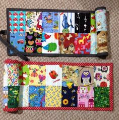 I-Spy quilt rolls, using tutorial from stitchedbycrystal.com