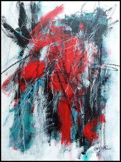 N°1444 Pat Pellerin. Acrylique et crayon gras sur carton toilé 30x40 cm.