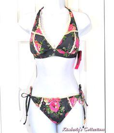 Betsey Johnson Beauty Mark Floral Bikini Swimsuit size M NWT #BetseyJohnson #Bikini