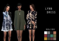 LEO-SIMS • 20 swatches 12 solids - 8 patterns Mesh by...